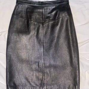 ❤️ Forenza Italian Leather High Waist Pencil Skirt